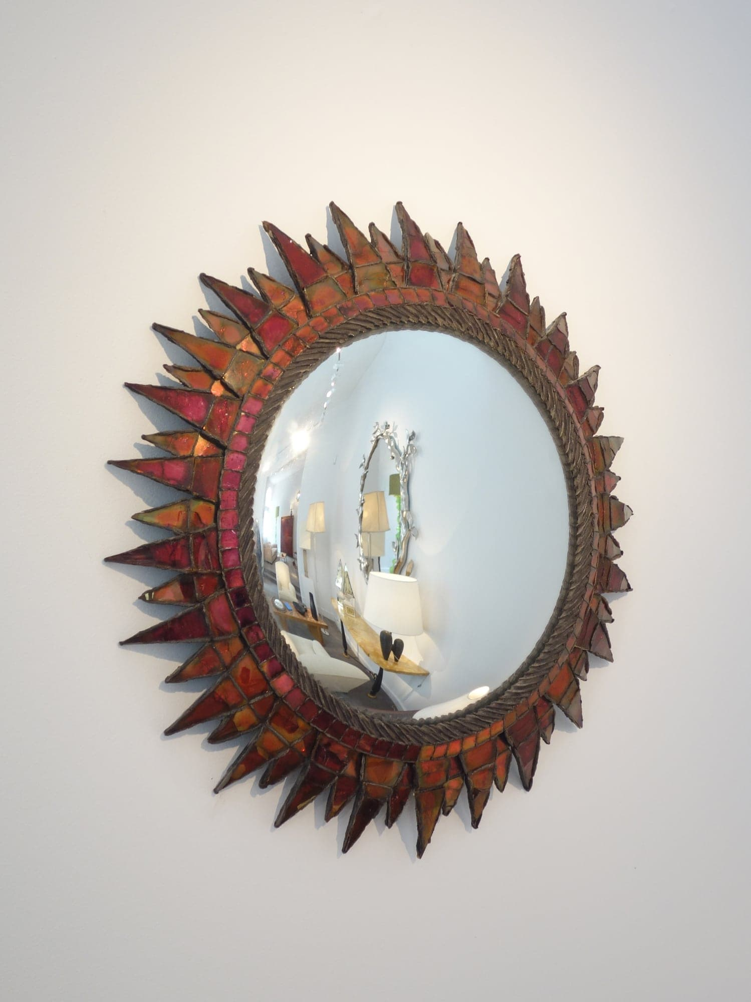Line Vautrin, Miroir « Soleil à pointes n°3 » (vendu), vue 02