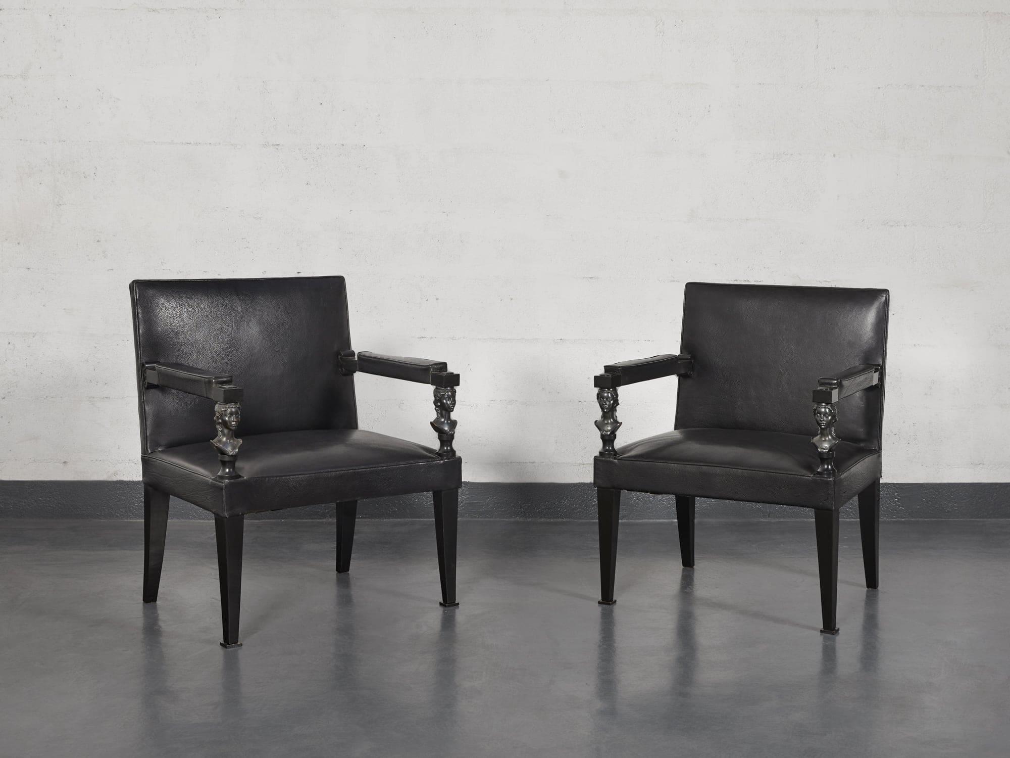 André Arbus & Vadim Androusov, Paire de fauteuils, vue 01