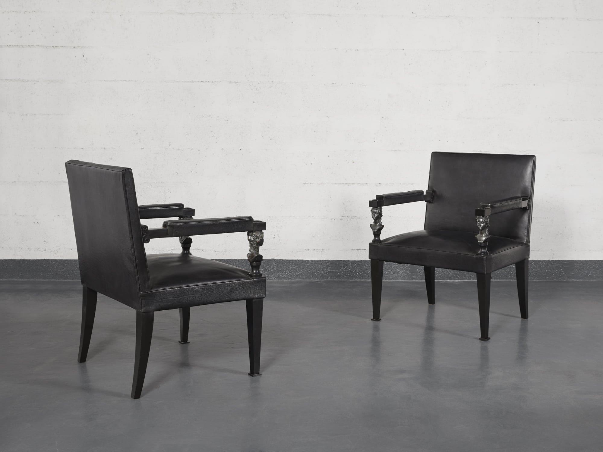 André Arbus & Vadim Androusov, Paire de fauteuils, vue 02