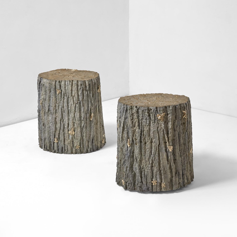 Joy de Rohan Chabot, Table d'appoint «Sous bois de Printemps», vue 01