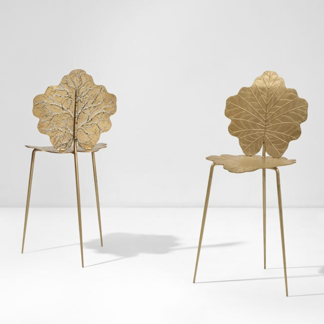 "Joy de Rohan Chabot, Chaise ""Feuilles d'Or"""