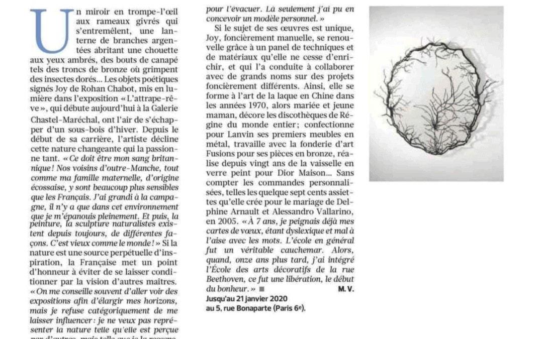 Le Figaro, La forêt onirique de Joy de Rohan Chabot, November 2019