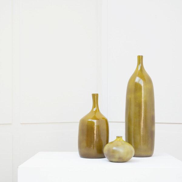 J. & D. Ruelland, Set of three vases