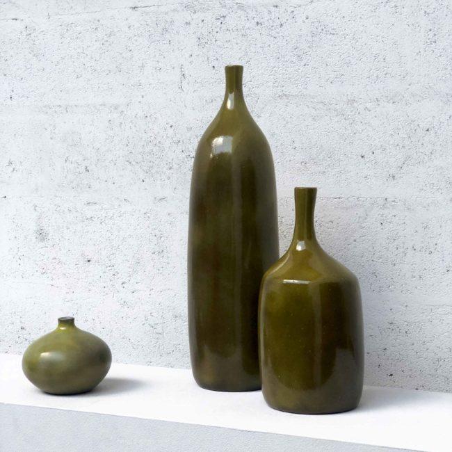 J. et D. Ruelland, Ensemble de trois vases