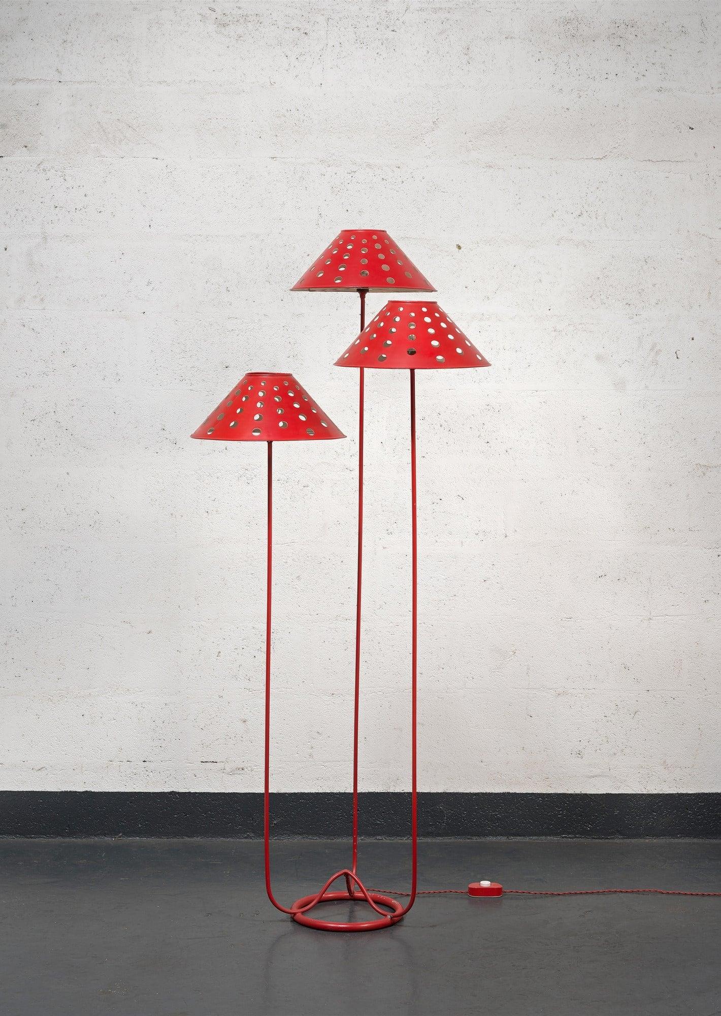 Jean Royère, Rare lampadaire «Champignon» (vendu), vue 01