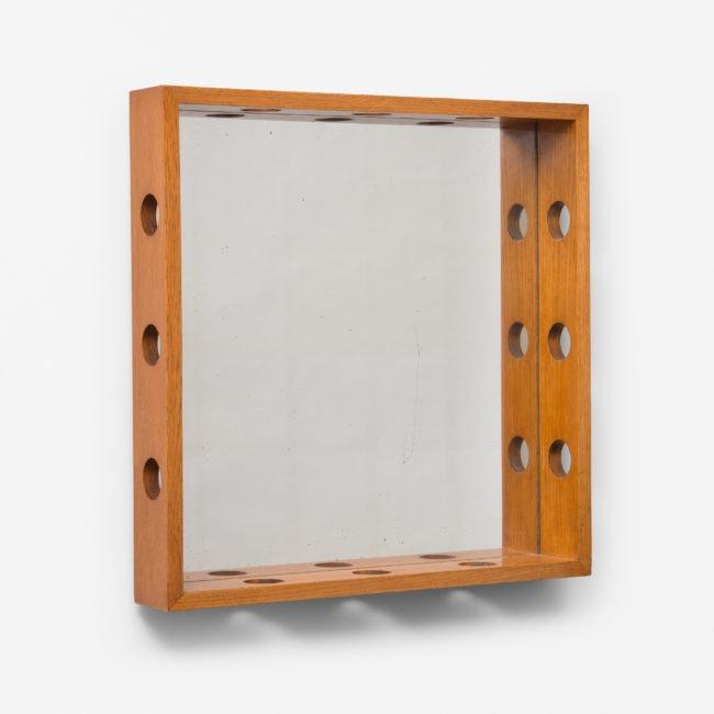 Jean Royère, Rare wood mirror