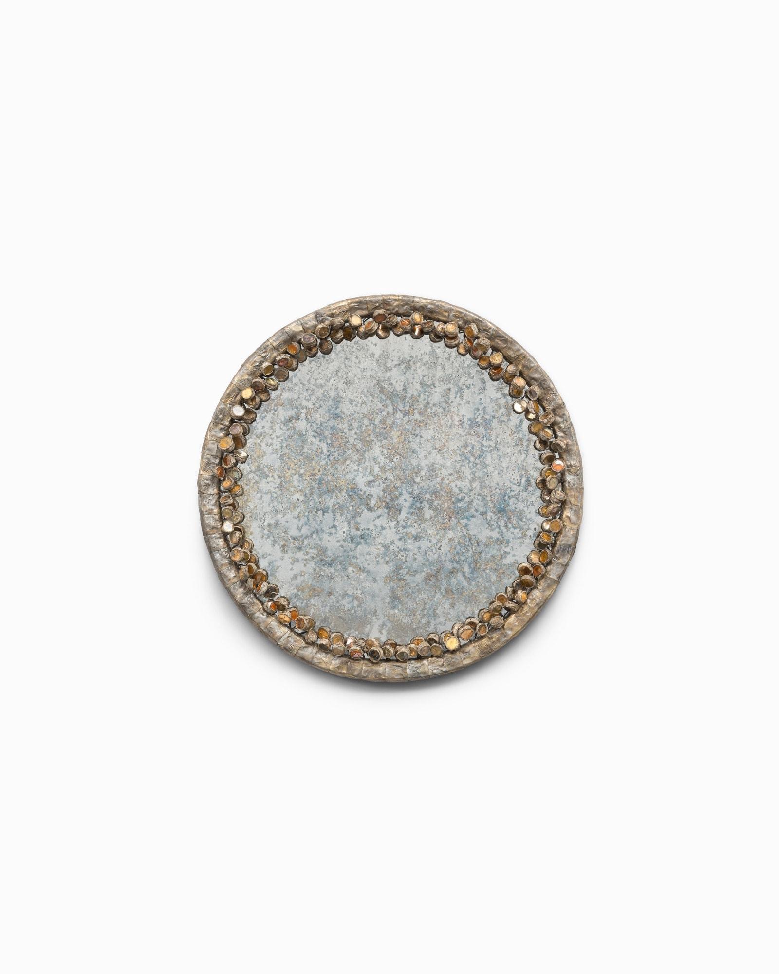 Line Vautrin, Très rare miroir «Cailloux oxydés» (vendu), vue 01