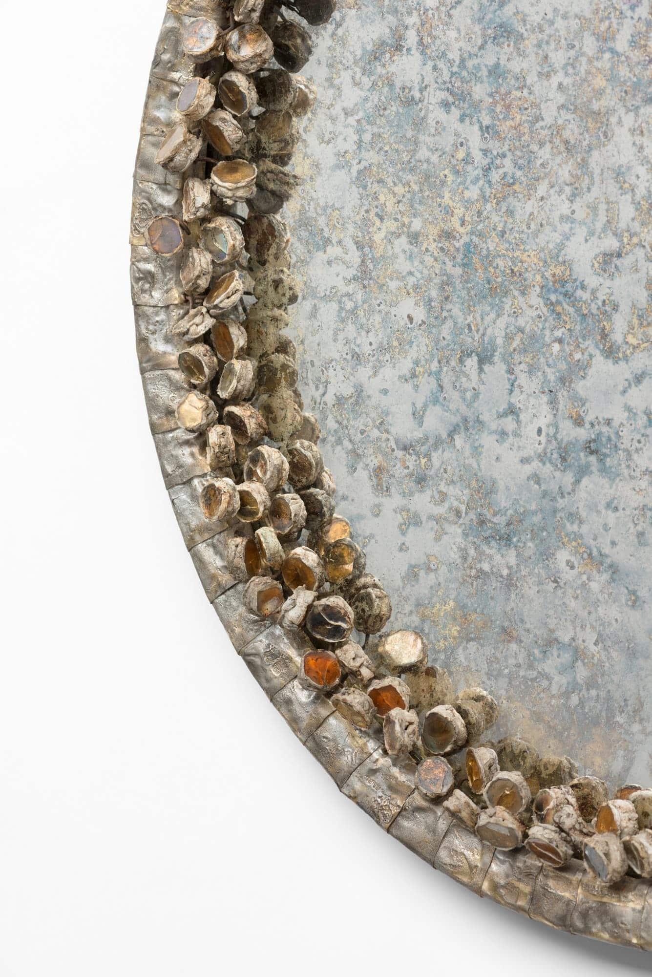 Line Vautrin, Très rare miroir «Cailloux oxydés» (vendu), vue 02