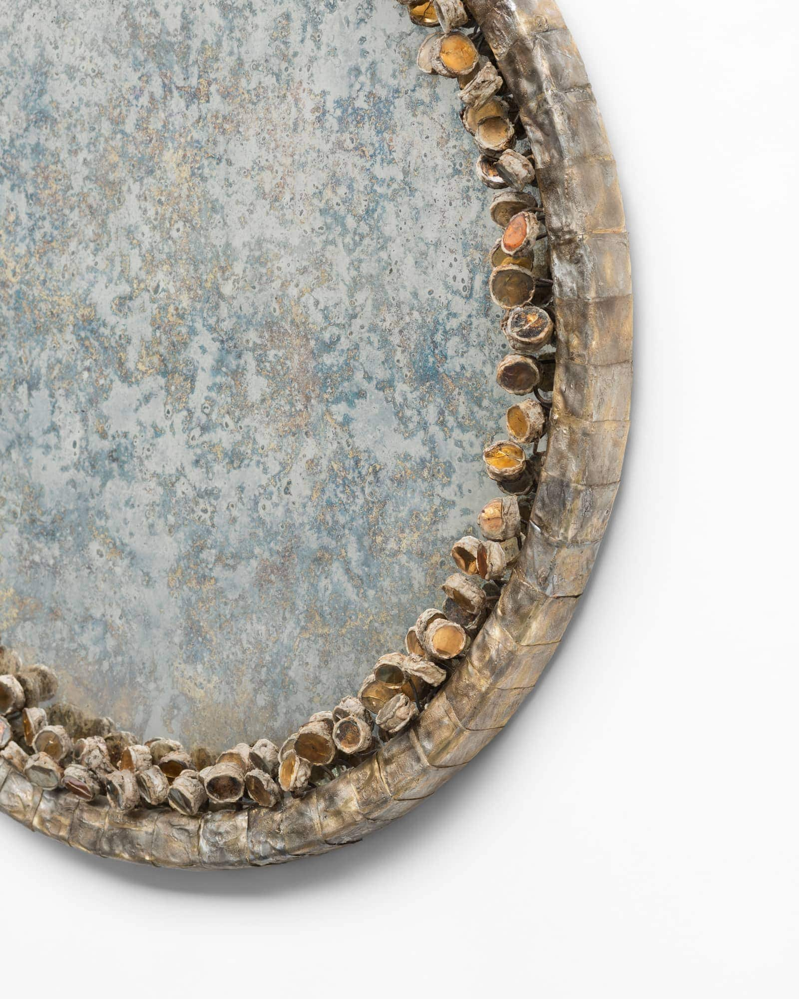 Line Vautrin, Très rare miroir «Cailloux oxydés» (vendu), vue 03