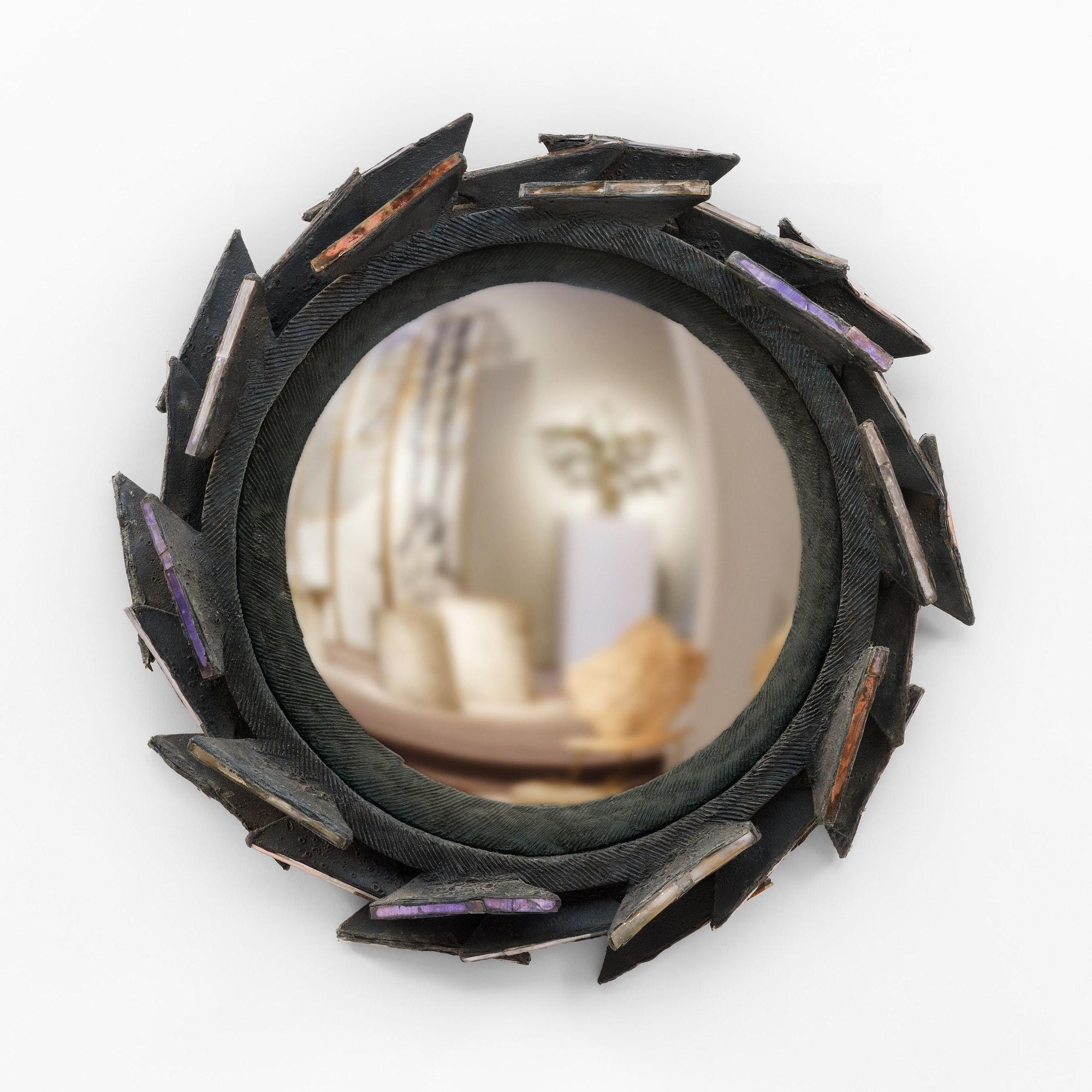 "Line Vautrin, Rare miroir ""Pacifique"", vue 01"