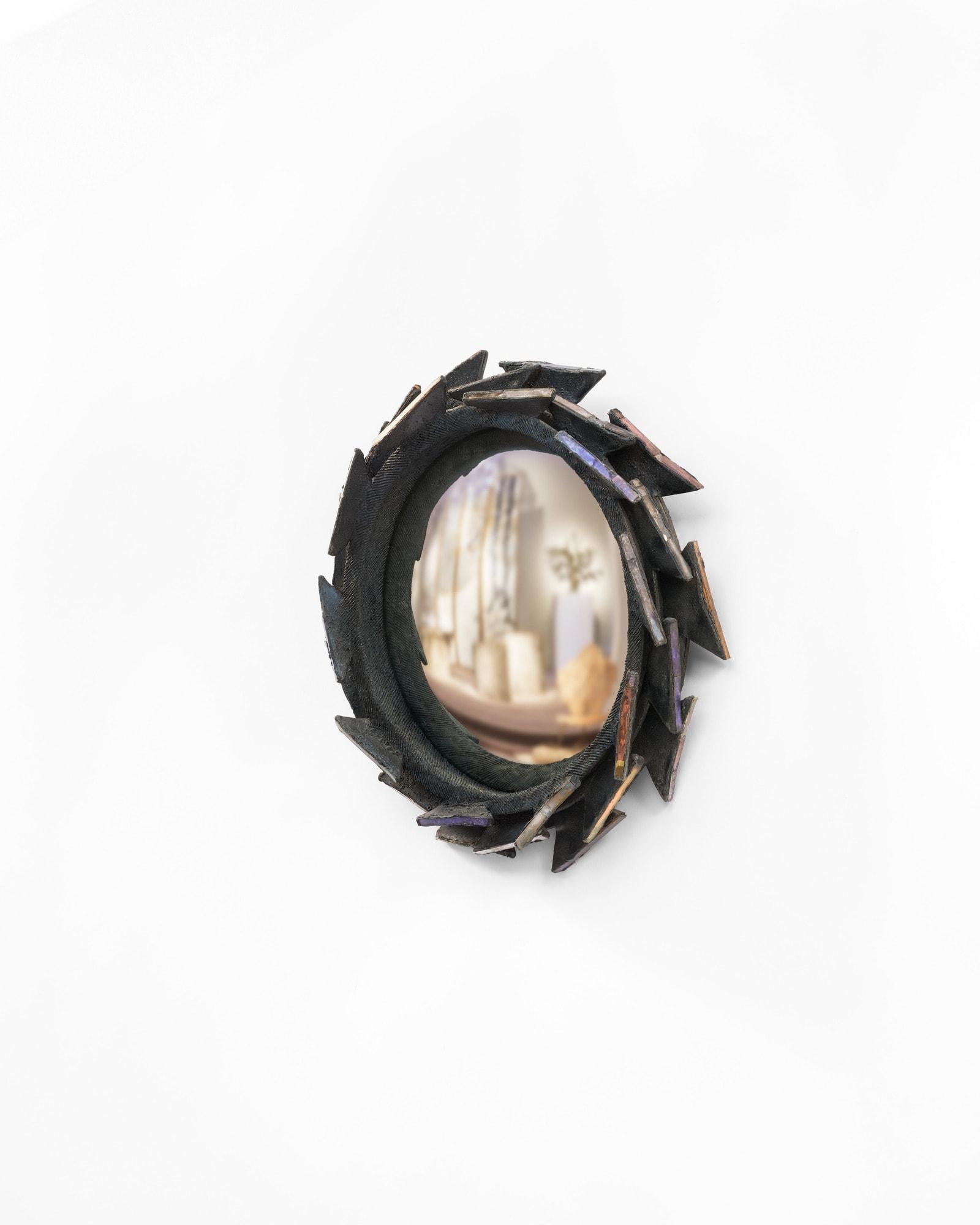 "Line Vautrin, Rare miroir ""Pacifique"", vue 02"