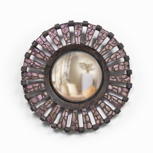 Line Vautrin, Rare miroir «Roue»