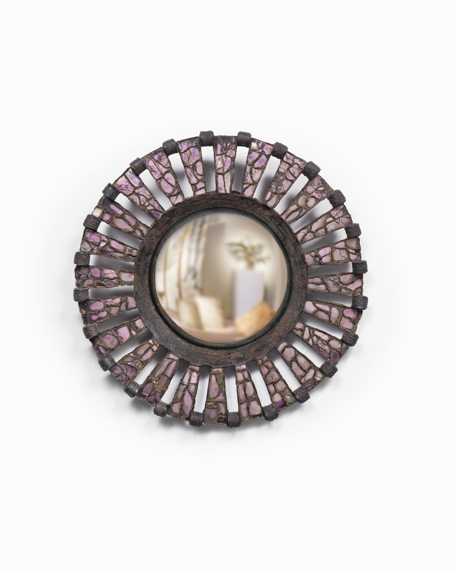 "Line Vautrin, Rare miroir ""Roue"", vue 01"