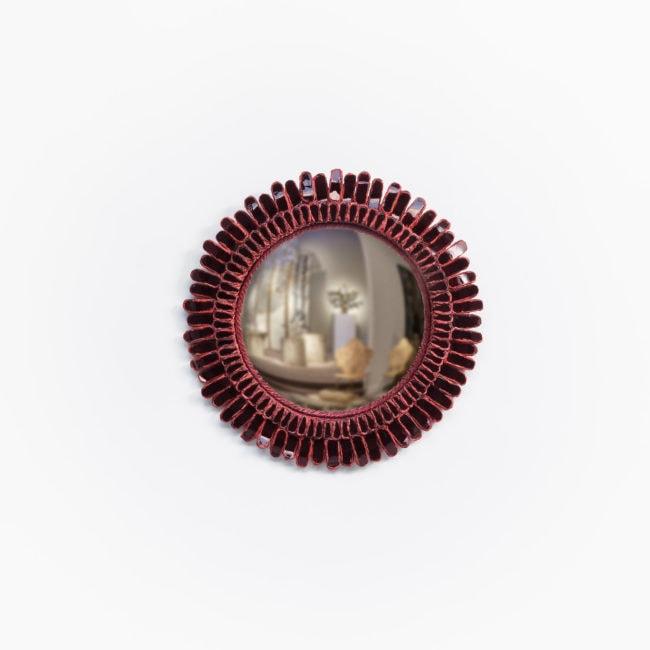 Line Vautrin, Miroir «Gerbera» grenat (vendu)