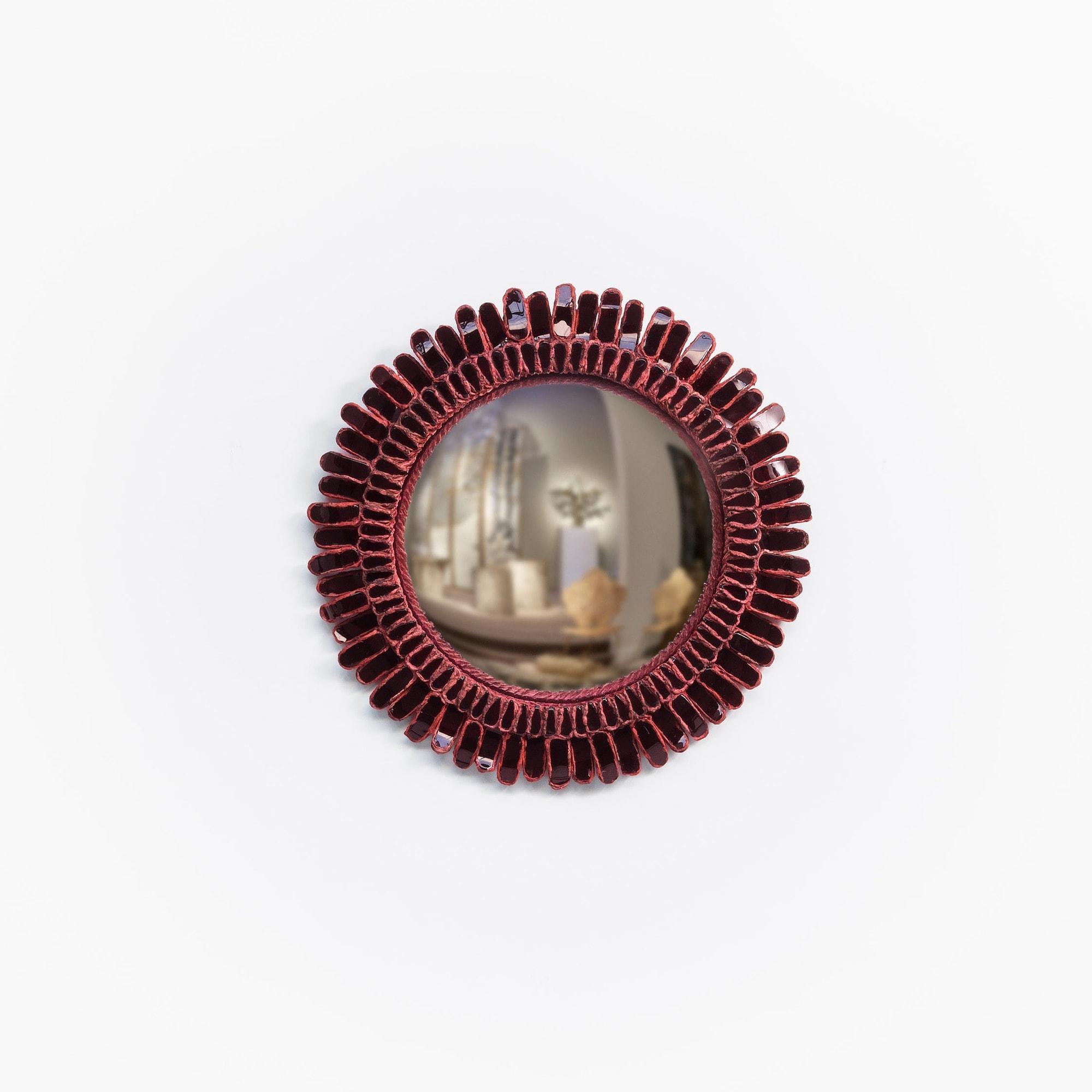 "Line Vautrin, garnett ""Gerbera"" mirror (sold), vue 01"