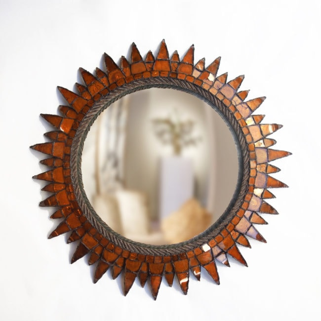 Line Vautrin, «Soleil à pointes n°3» orange