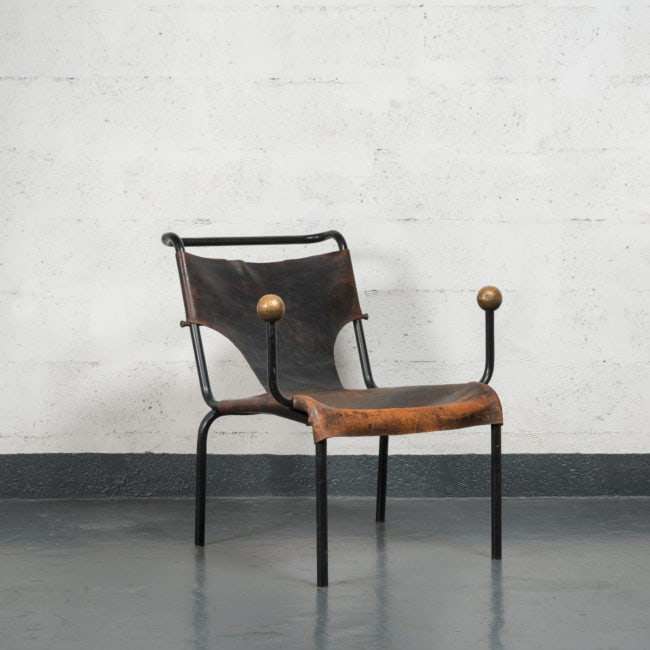 "Lina Bo Bardi, Rare and original ""Bola"" chair"