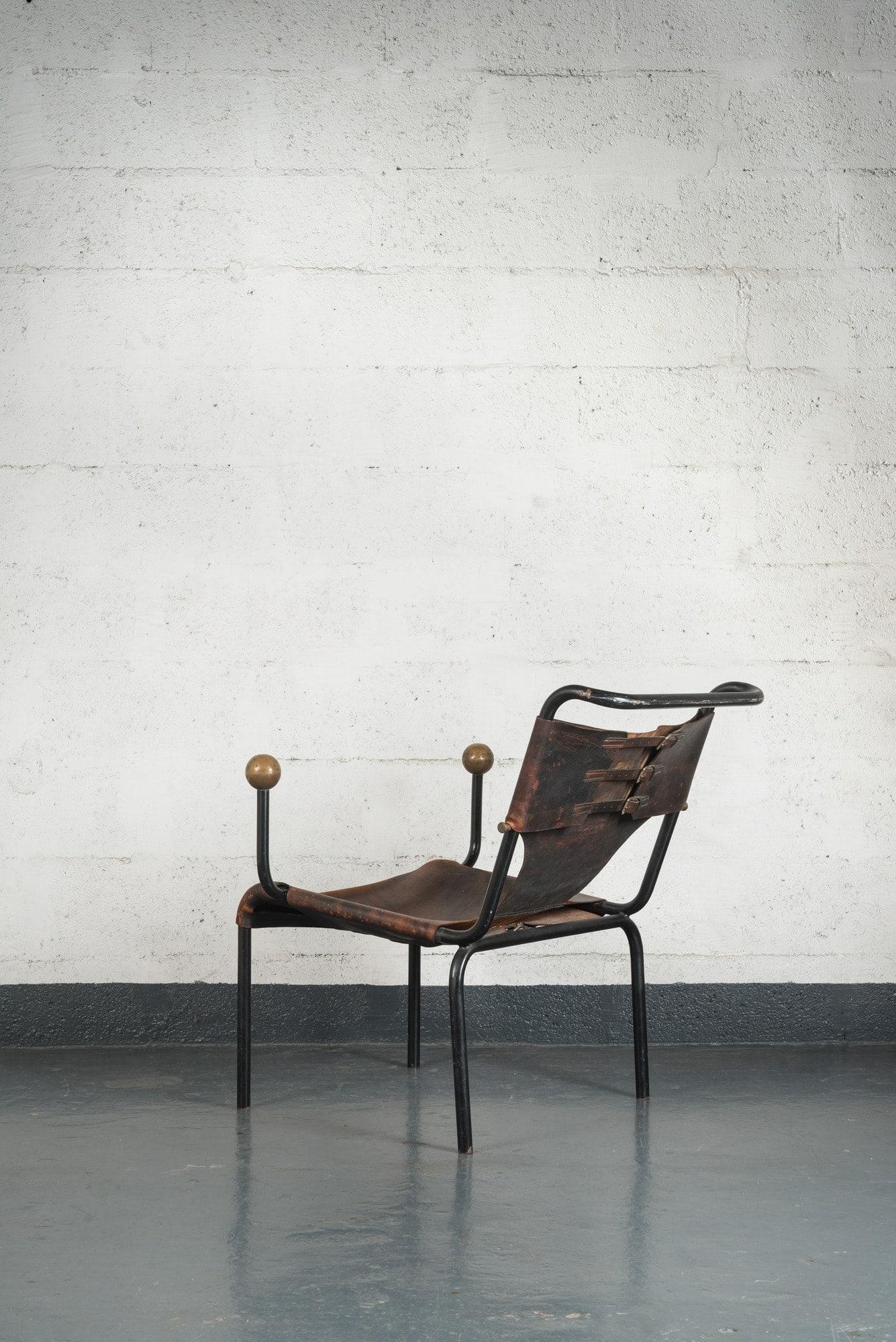 """Lina Bo Bardi, Rare et originale chaise """"Bola"""", vue 02"""