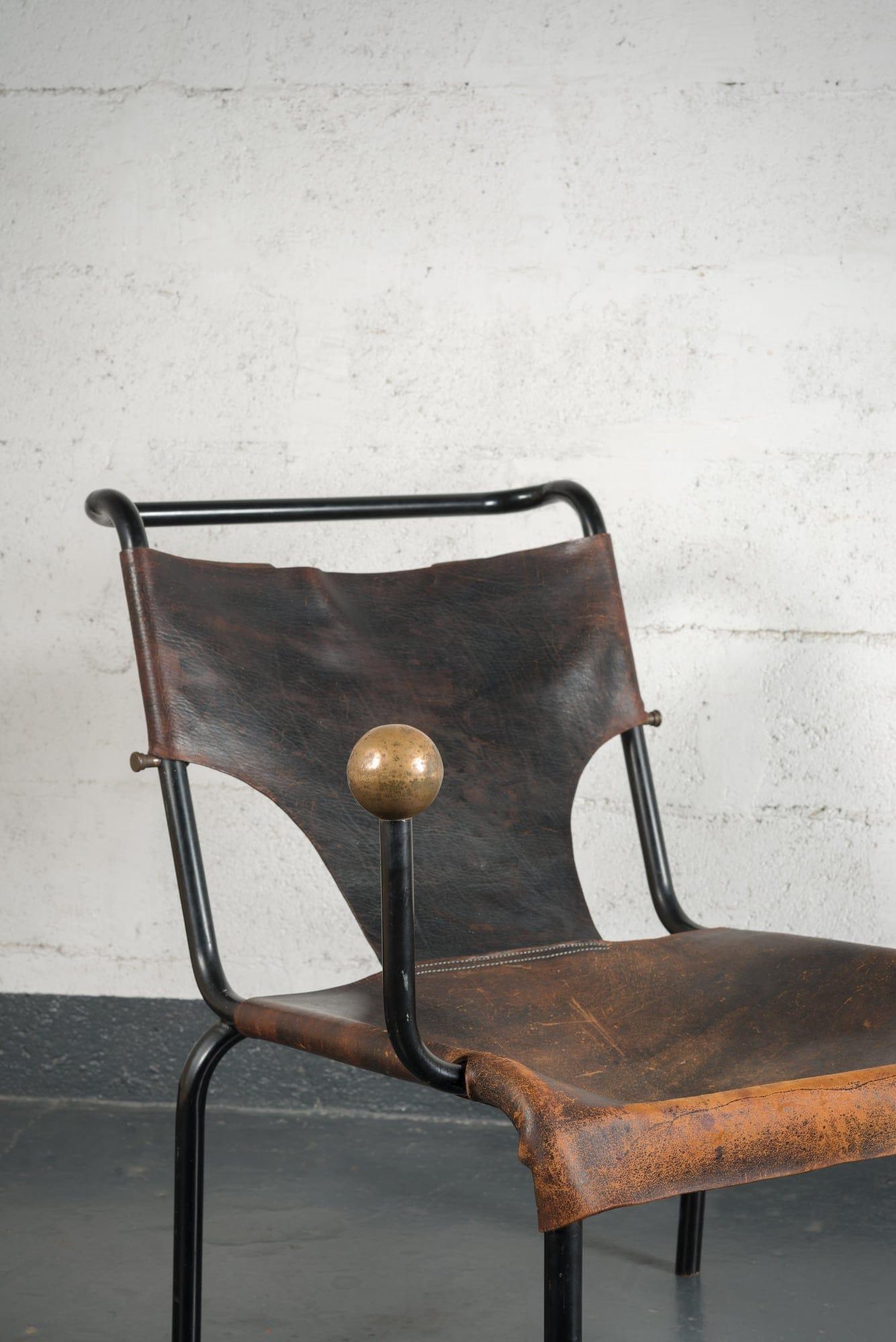 """Lina Bo Bardi, Rare et originale chaise """"Bola"""", vue 03"""