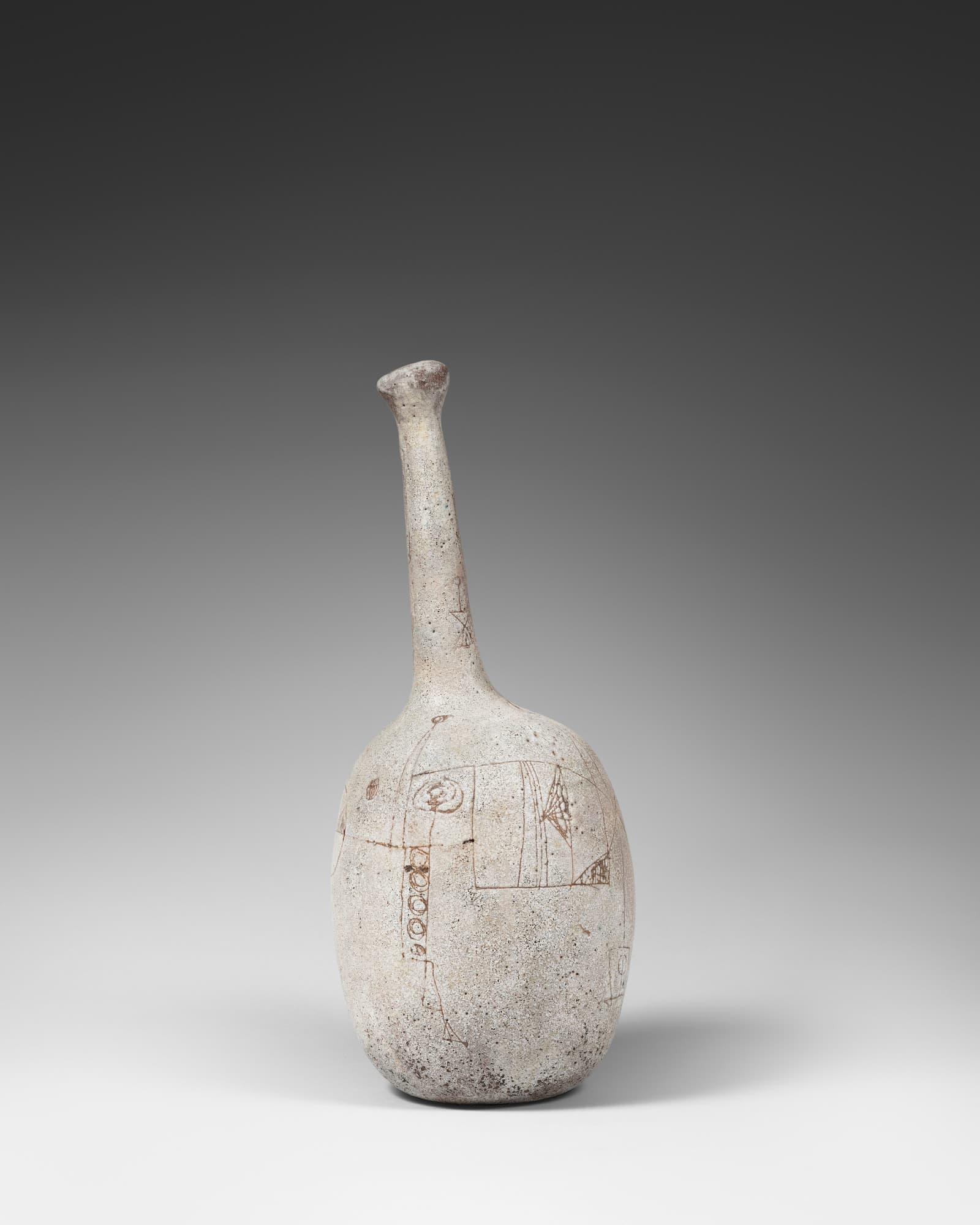 André Borderie, Pierre & Vera Szekely, Rare vase sculpture, vue 01