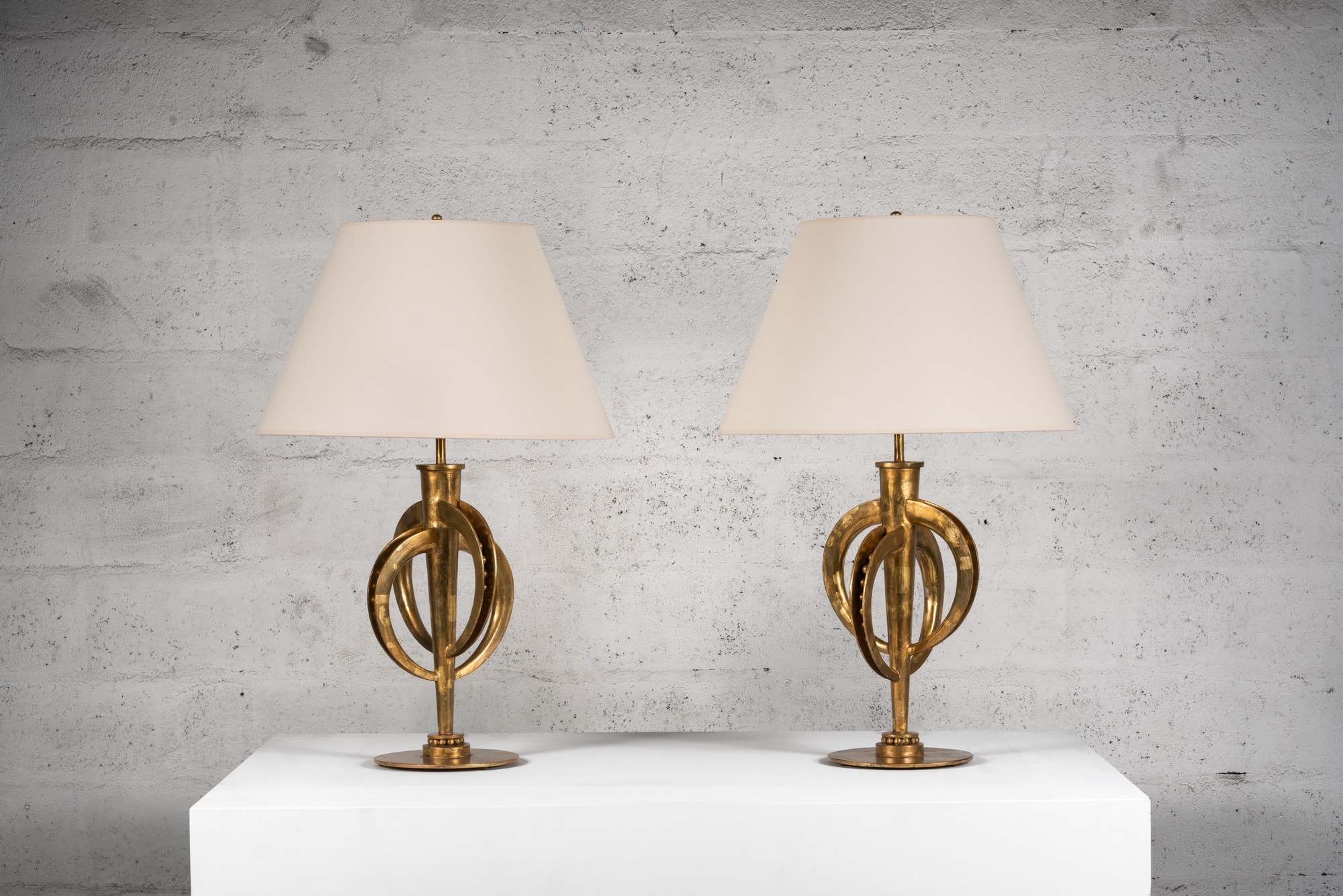Marc Nicolas Du Plantier, Exceptional pair of lamps, vue 01