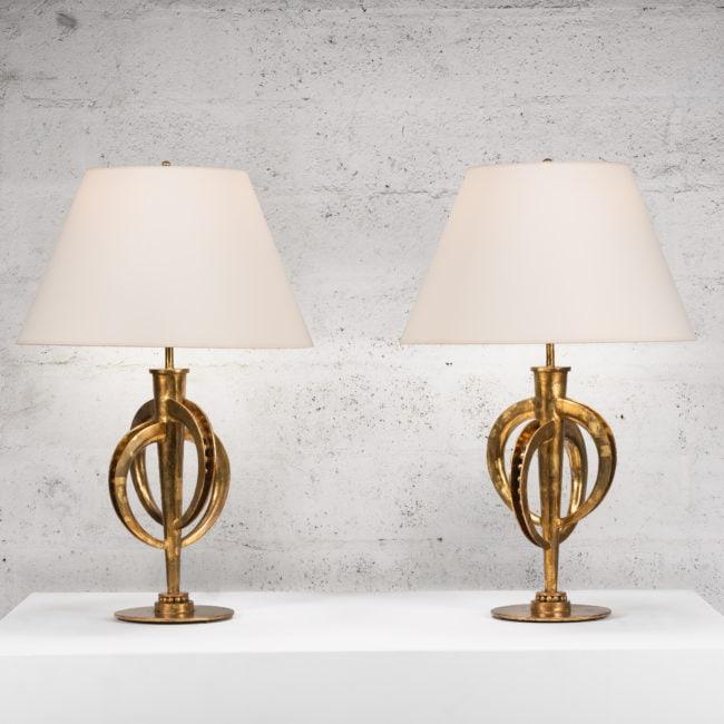 Marc Nicolas Du Plantier, Exceptionnelle paire de lampes (vendue)