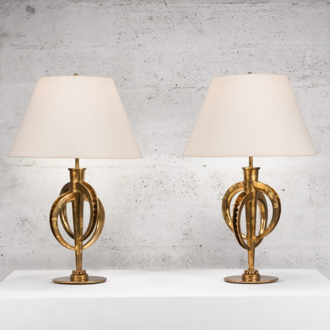 Marc Nicolas Du Plantier, Exceptional pair of lamps