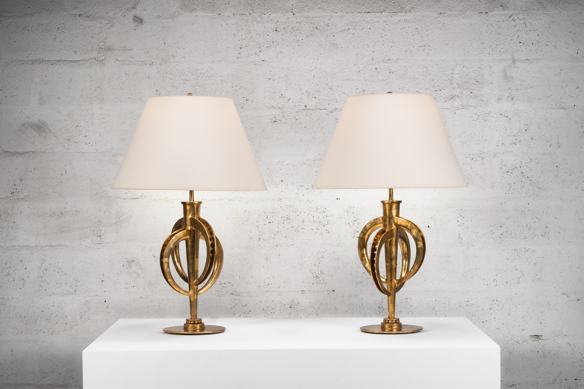Marc Nicolas Du Plantier, Exceptional pair of lamps, vue 02