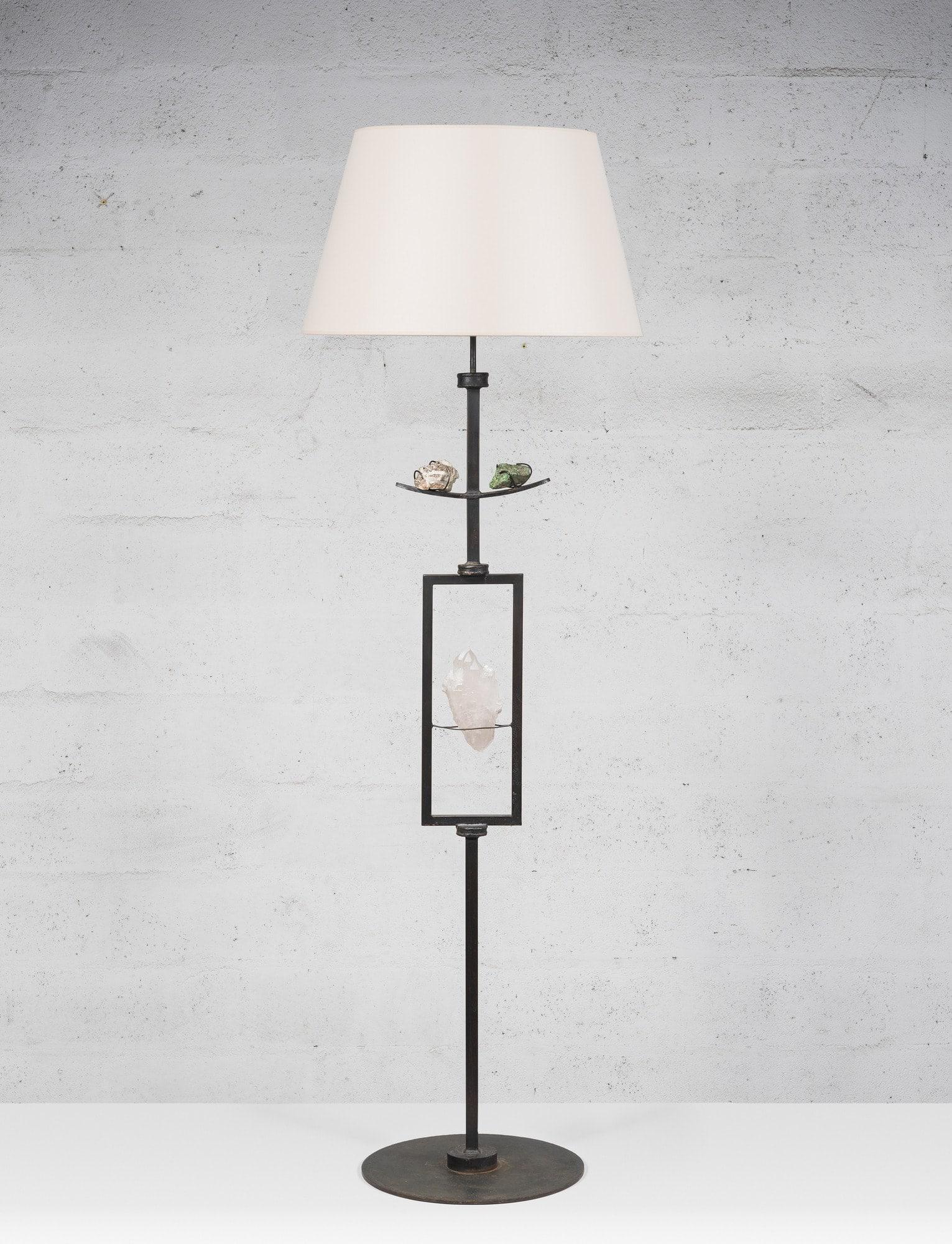 Marc Nicolas Du Plantier, Rare floor lamp, vue 01