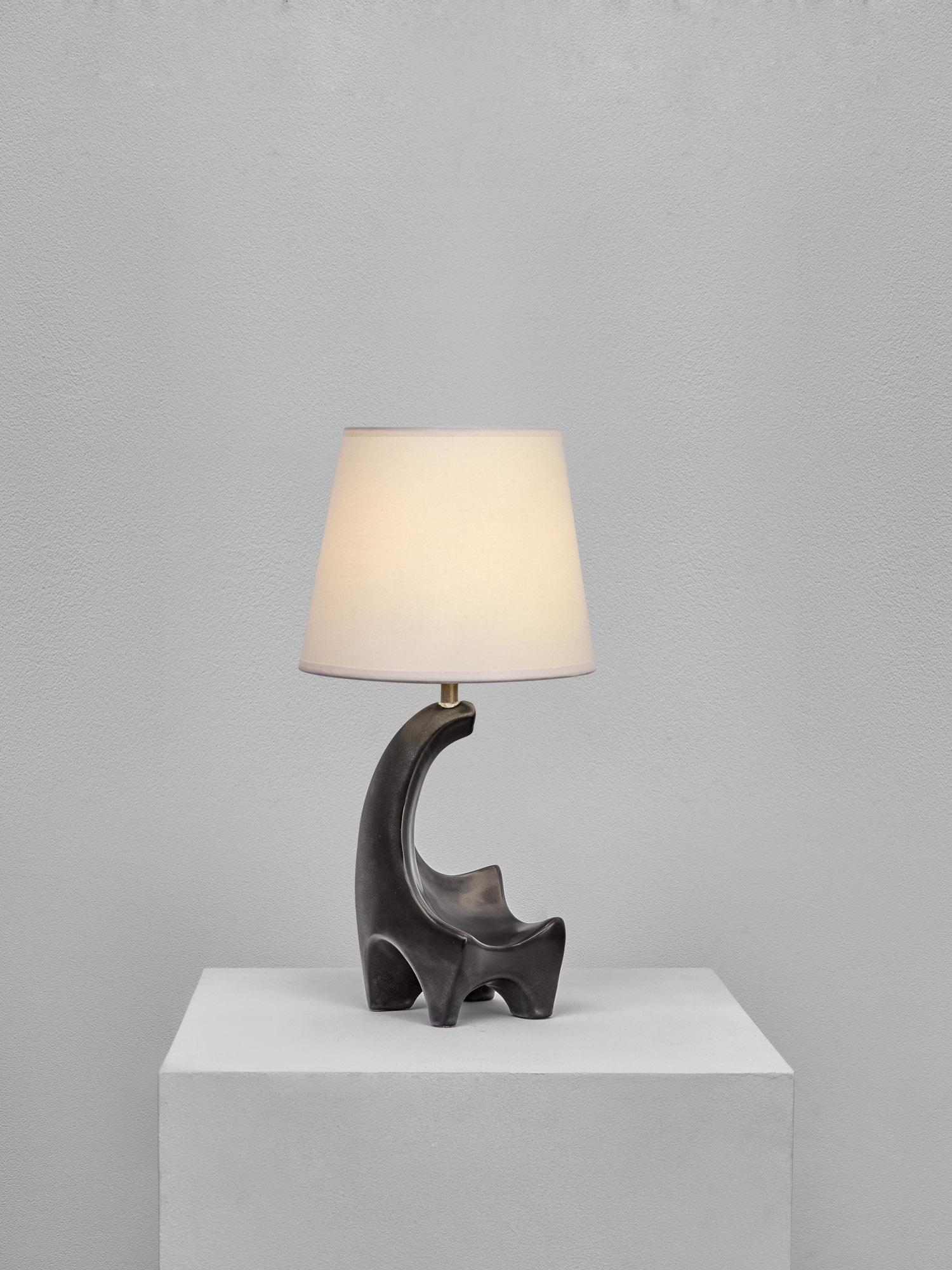 Georges Jouve, Lampe zoomorphe, vue 02