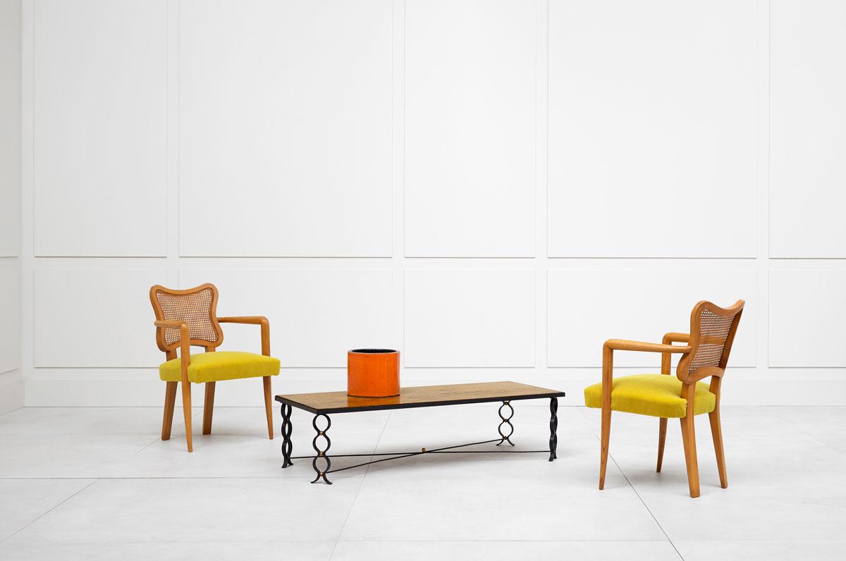 "Jean Royère, ""Ruban"" coffee table, vue 03"