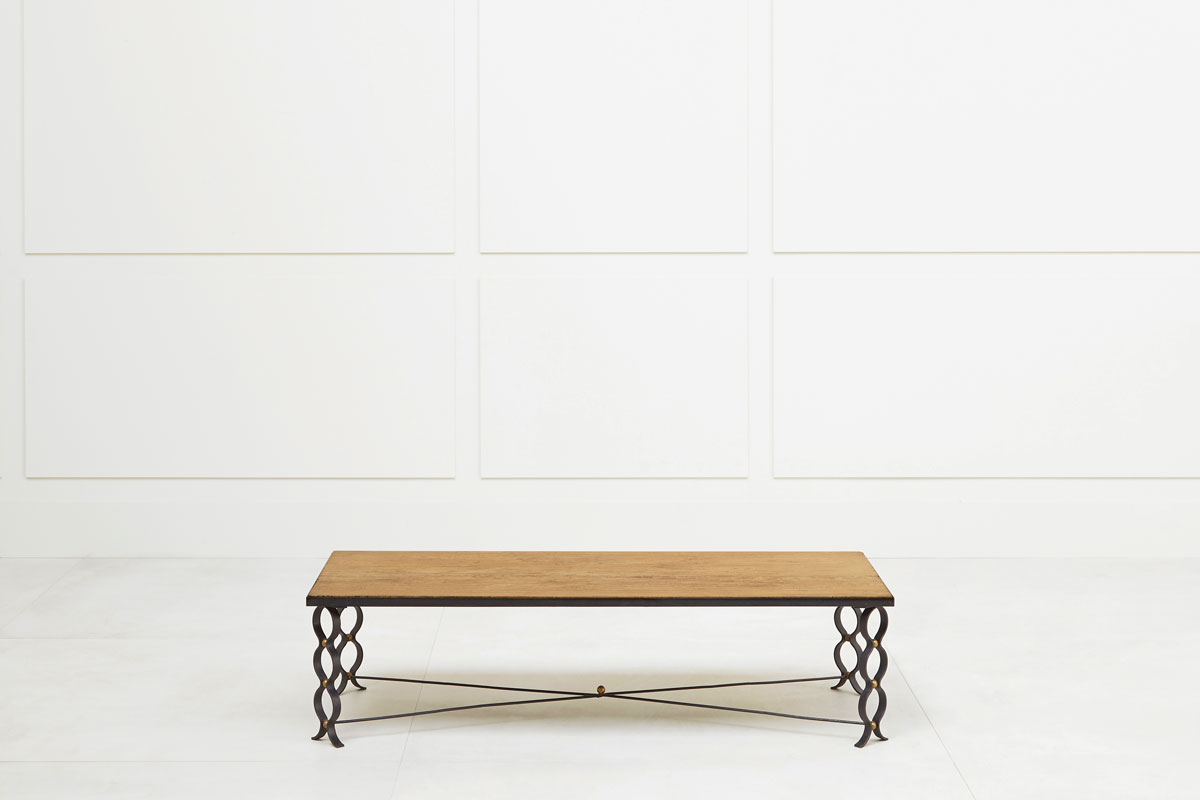 "Jean Royère, Table basse ""Ruban"", vue 01"