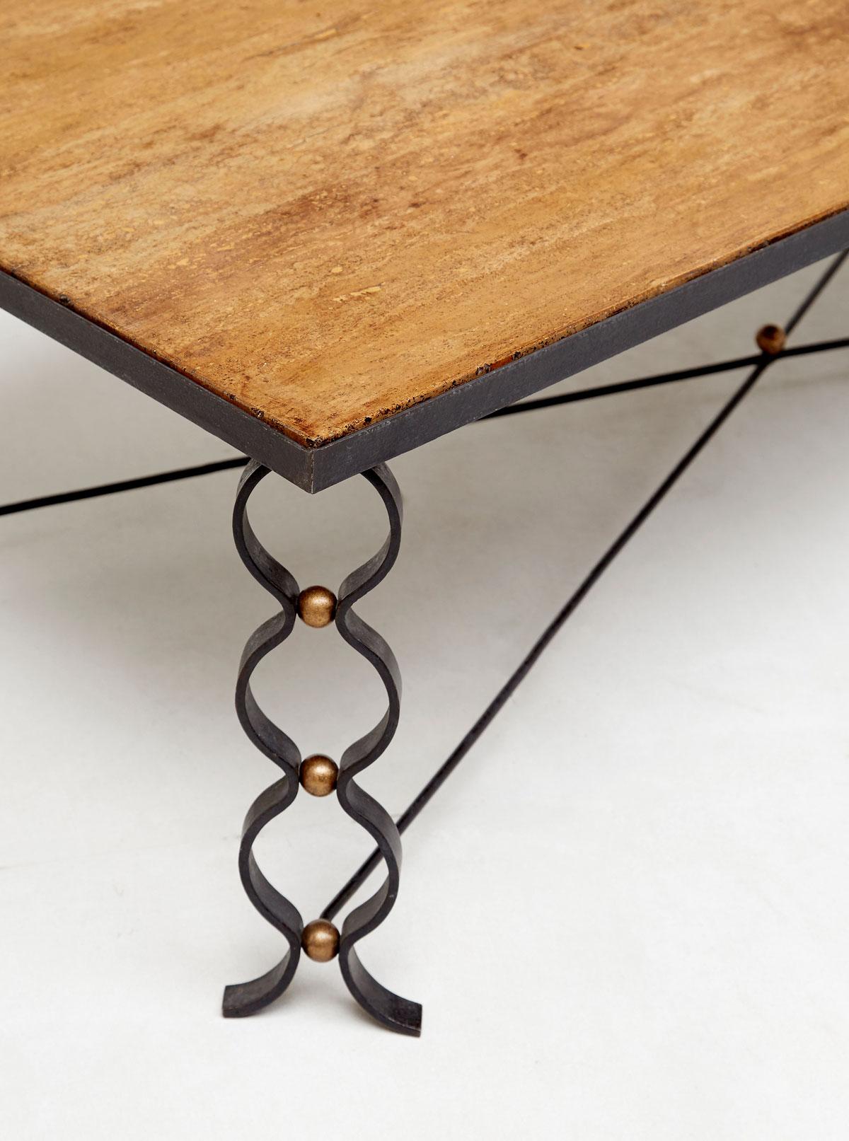 "Jean Royère, ""Ruban"" coffee table, vue 02"