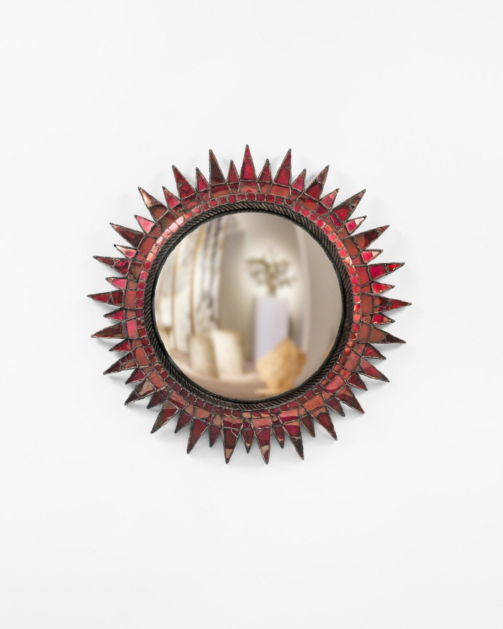 Line Vautrin, «Soleil à pointes N°3» fuschia, vue 01