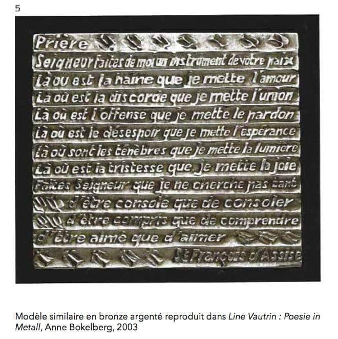 """Line Vautrin, Importante boîte """"Prière de Saint-François d'Assise"""", vue 04"""