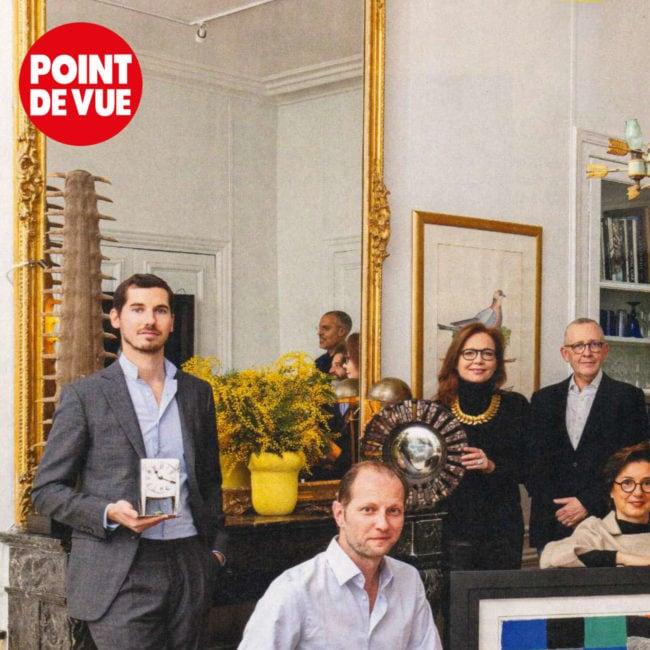point de vue, magazine, reportage, galerie chastel maréchal, aline chastel, line vautrin, vautrin, miroir, mirror, tefaf 2020, fair, antique