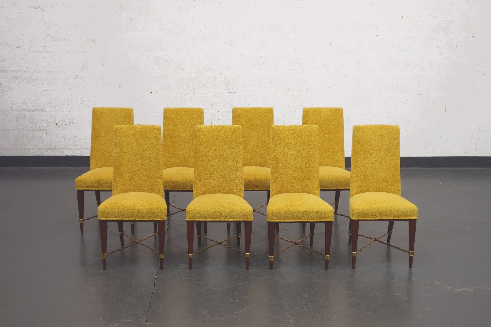 Jean Royère, Set of 8 chairs, vue 01