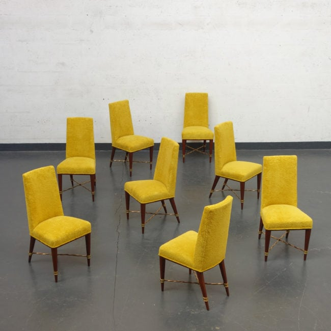 Jean Royère, Set of 8 chairs