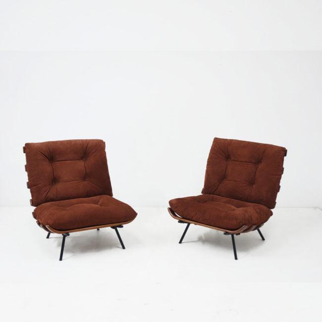 Carlo Hauner & Martin Eisler, Paire de fauteuils «Costela»