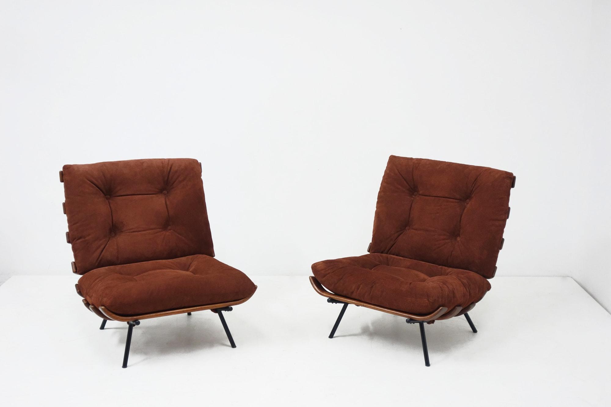 """Carlo Hauner & Martin Eisler, Paire de fauteuils """"Costela"""", vue 01"""