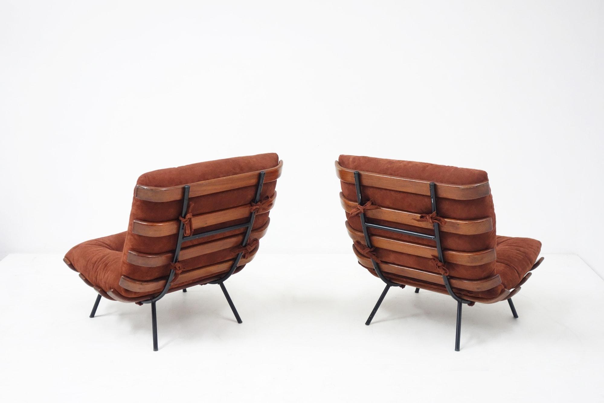 """Carlo Hauner & Martin Eisler, Paire de fauteuils """"Costela"""", vue 02"""