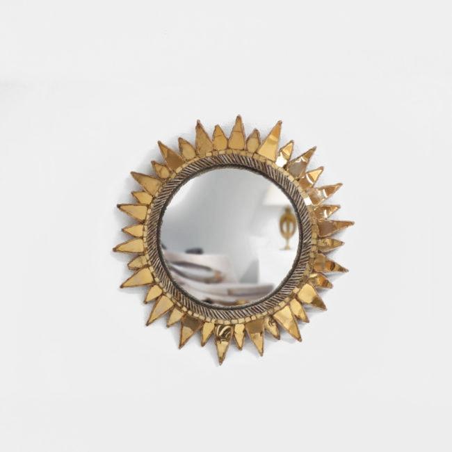 Line Vautrin, Miroir «Soleil à pointes n°2» doré (vendu)