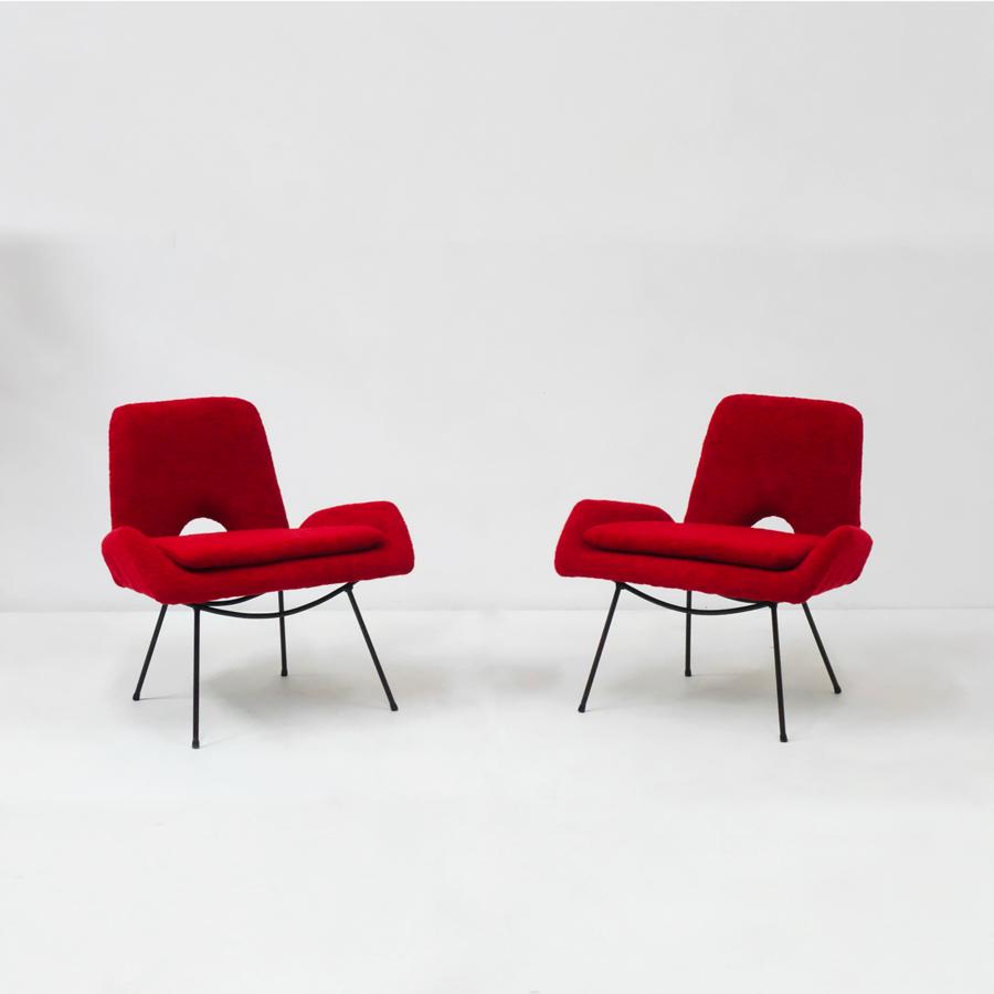 Carlo Hauner & Martin Eisler, Pair of armchairs, vue 01