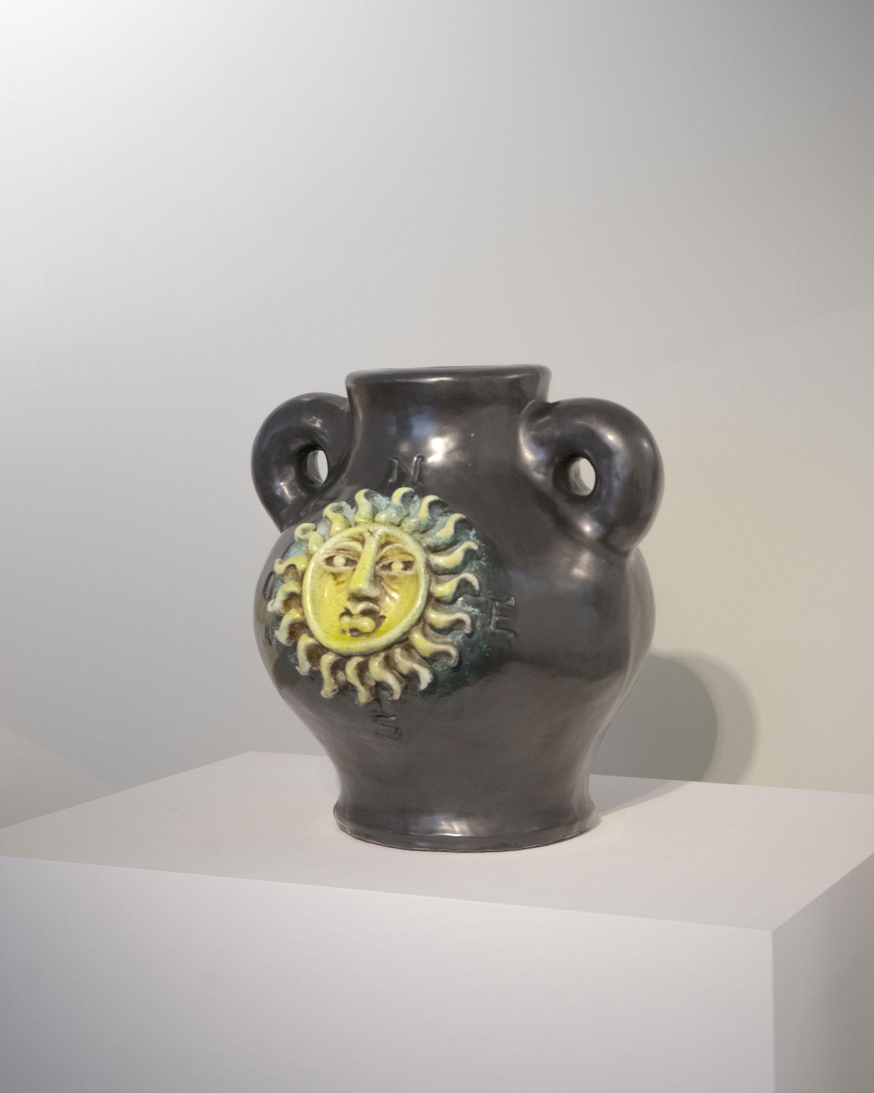 Georges Jouve, Important Soleil vase with cardinal points, vue 02