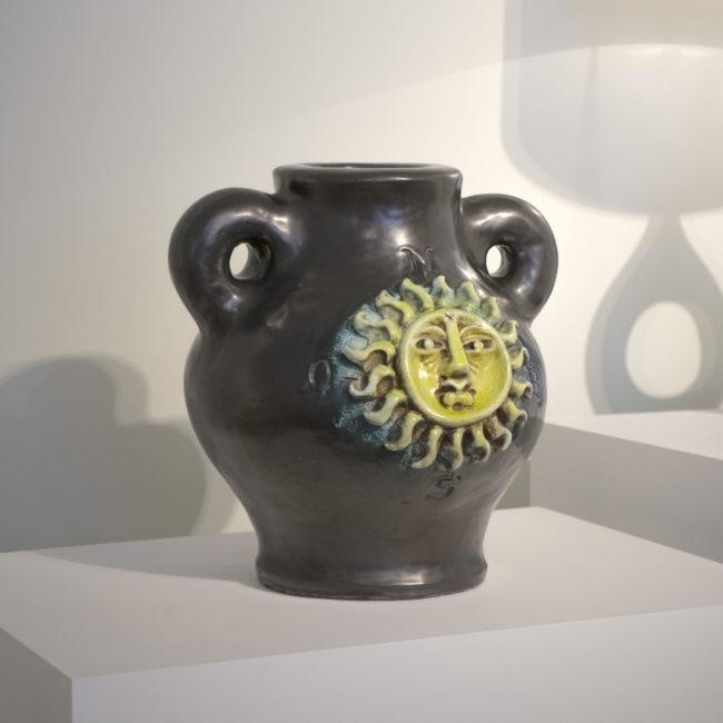 Georges Jouve, Important vase Soleil aux points cardinaux