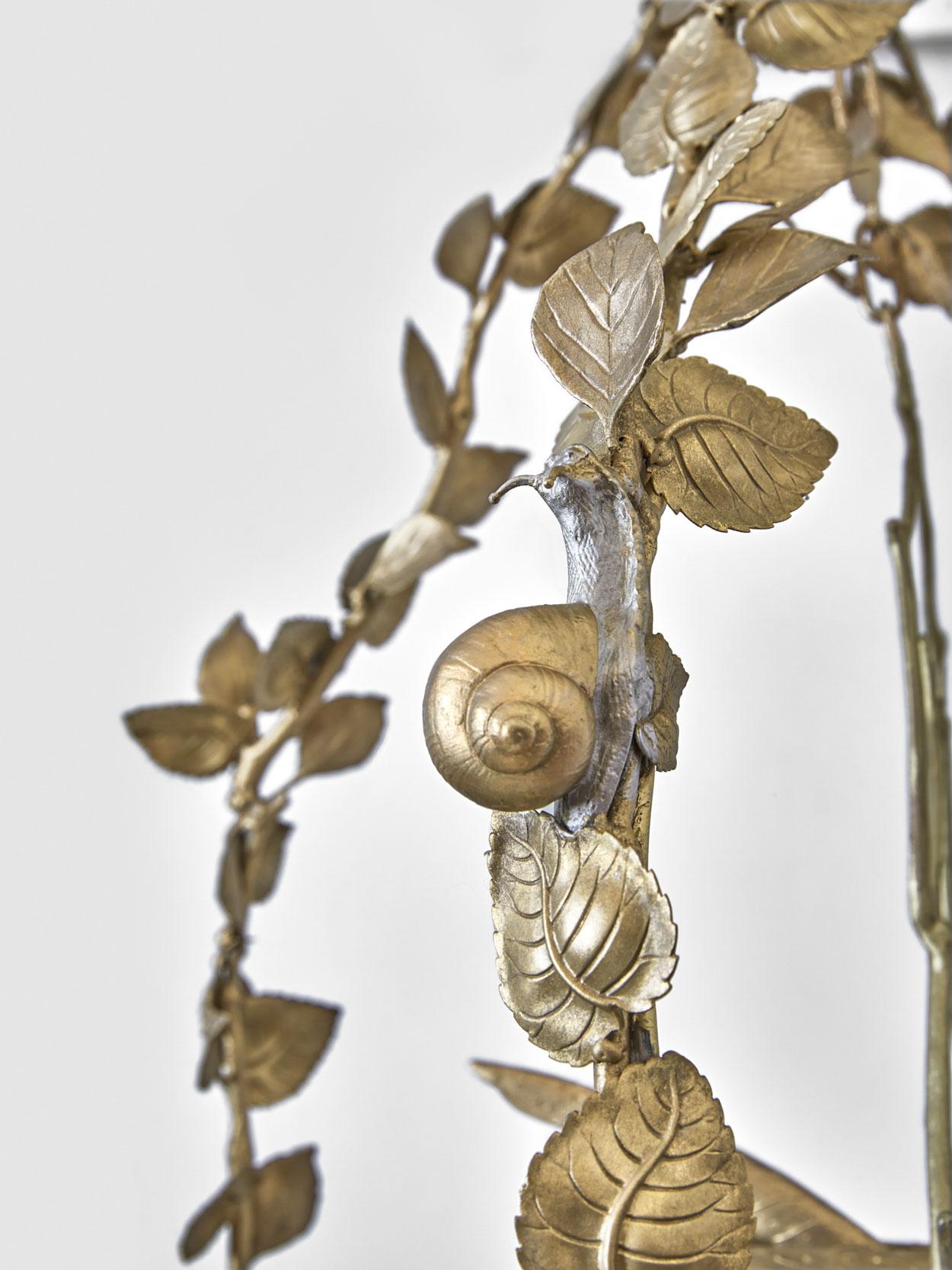 "Joy de Rohan Chabot – ""L'Oiseau suspendu"" (hanging bird) lantern, vue 02"