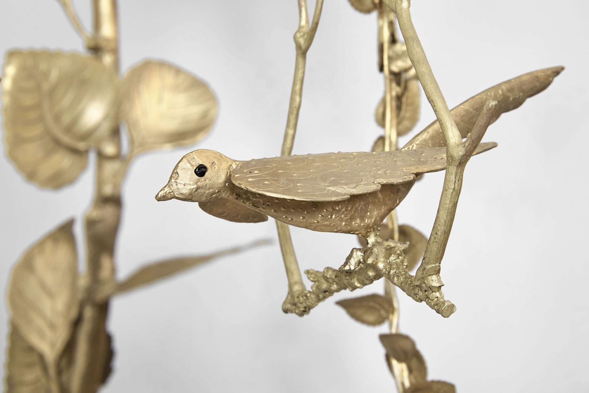 "Joy de Rohan Chabot – ""L'Oiseau suspendu"" (hanging bird) lantern, vue 03"
