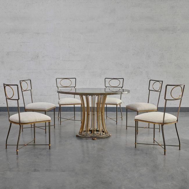 Gilbert Poillerat, Dining room set