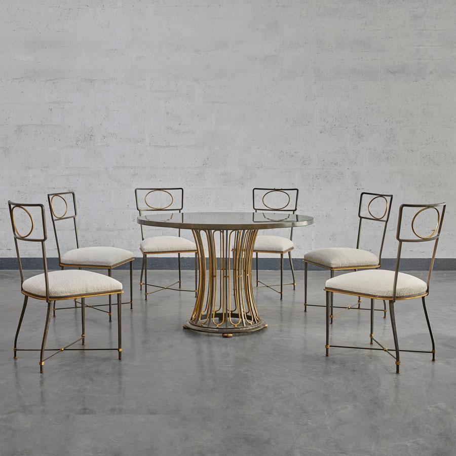 Gilbert Poillerat, Ensemble de salle-à-manger, vue 01