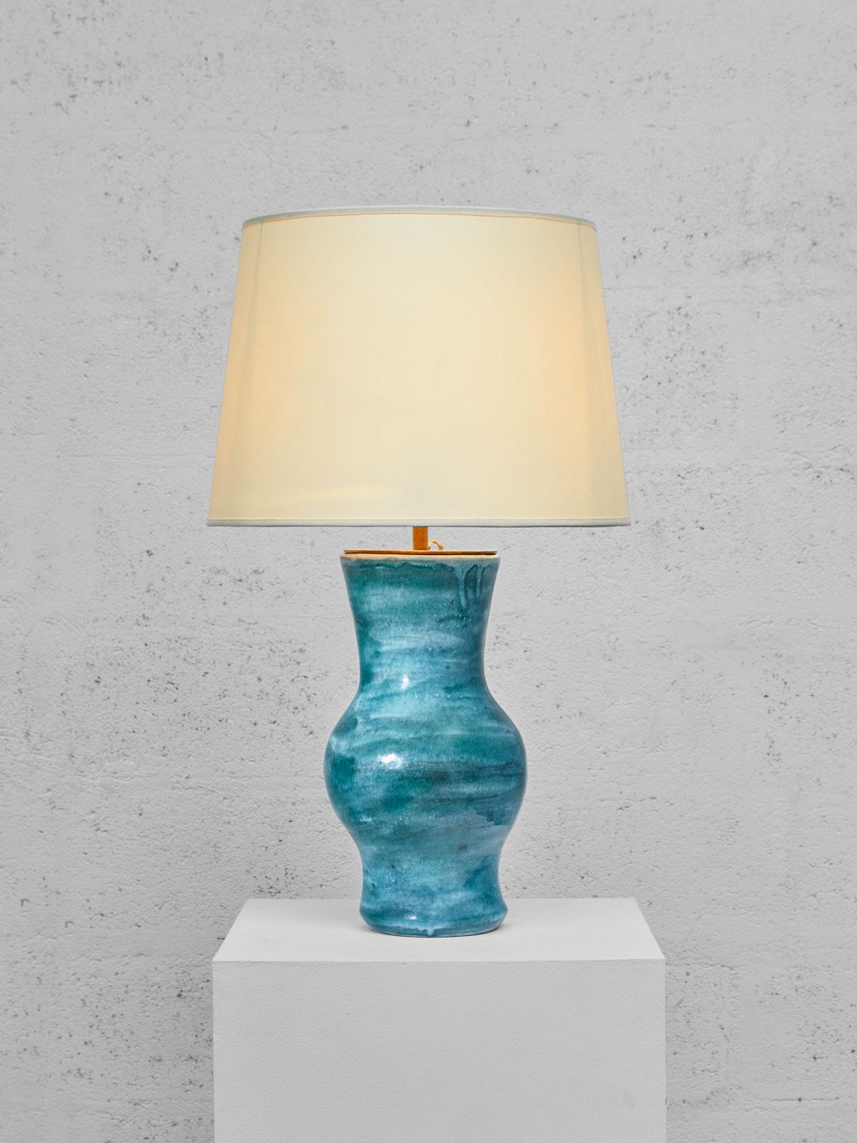 """Robert & Jean Cloutier, Vase """"Gigi"""" monté en lampe, vue 01"""